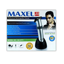 Maxell AK-3771 Professional Rechargeable Wireless Trimmer Steel Blade *Free P&P*