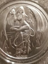 2017 Temptation of the Succubus 2oz .999 Fine Silver Hot Girl skulls beauty lady