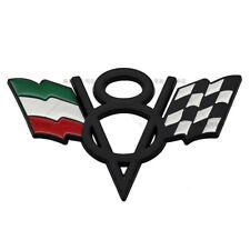 V8 Italy IT Grille Grill Emblem Black Metal Chrome Front Badge For Lamborghini