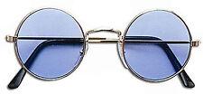Round Occhiali da Sole tonalità blu lenti LENNON OZZY 60 70 Hippy Hippie Costume