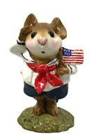 Wee Forest Folk M-168 STARS & STRIPES by Annette Petersen Navy Patriotic W/Box