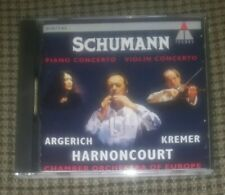 Argerich Kremer Harnoncourt Schumann Piano & Violin Concerto CD SEALED NEW