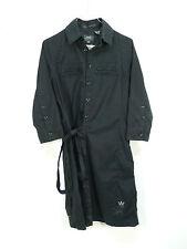 G-Star vestido talla S/negro & con seda-Sportiv (l 0240)