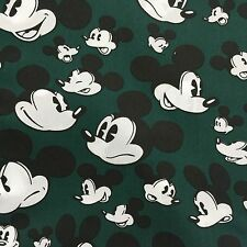 "Half Yard Mickey Mouse on Green 100% Cotton Fabric 18""x59"" (46x150cm)_6"