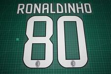 AC Milan 08/09 #80 RONALDINHO Homekit Nameset Printing