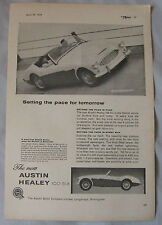 1957 Austin Healey 100 Six Original advert No.1
