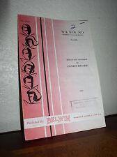 Choral Music:No, Sir. No (English Court Bal)Arr.Janet Drake (SAB) Belwin No.1930