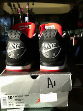 AIR JORDAN IV 4 retro bred 1999 BLACK CEMENT GREY SZ 10.5 rare! NIKE AIR w/ BOX