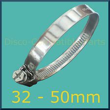 Stainless Steel Hose Clamp / Jubilee Clip 32 - 50mm Automotive Grade