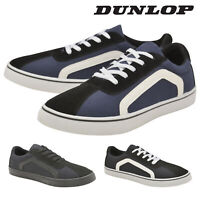 Dunlop Mens Lace Up Trainers Flat Skate Plimsoll Shoes Memory Foam Sizes 7-12