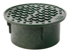 """NEW! CORRUGATED DRAIN FITTINGS NDS 3"""" Round Drain Grate Green PVC 0330SDG"""