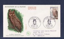 enveloppe 1er jour  faune nature oiseau hibou grand duc  Paris   voyagée  1972