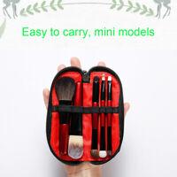 5pcs Travel Makeup Brushes Set Brush Mini Eyeshadow Cosmetic Eye Portable Red
