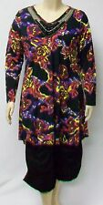 DUTCH DESIGNER,THEIR SIZE LARGE, COLORFUL FLOWERED TUNIC.POLYESTER AND SPANDEX.