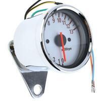 Universal LED Backlight Motorcycle Tachometer DC 12V Meter 13K RPM Tacho Gauge