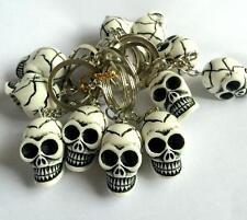 12 pcs Vintage New Jewelry fashion Cute Charm Skull Biker Keychain