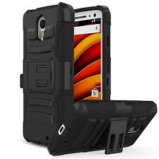 LG Phoenix 3 Phone Case Hard & Soft Hybrid Defender Kickstand Cover