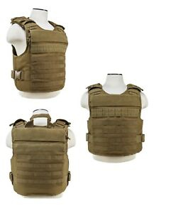 NcSTAR Ballistic Plate Carrier Vest w/External Pockets M-2XL Adjustable Tan