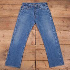 """Vintage Levis 501 Dark Stonewash Blue Straight Leg Denim Jeans 33"""" x 30"""" R18086"""