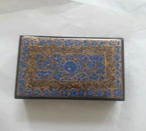 Handmade floral  Kashmir paper mache gift Pakistani indian ornament box