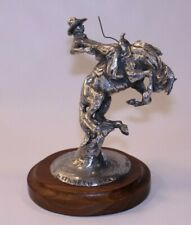 VTG Kenneth Wyatt Sculpture Statue Art Western Signed Texas Tornado Cowboy Rodeo