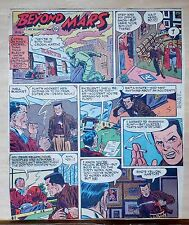 Beyond Mars by Jack Williamson - scarce full tab Sunday comic page Aug. 16, 1953