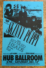 Skinny Puppy 1986 gig flyer 80s Seattle poster