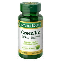 Nature's Bounty Green Tea Extract 315 mg Capsules 100 ea (Pack of 2)