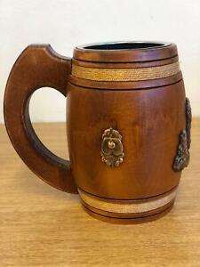 Beer Mug - Wooden Tankard Handmade From Solid Oak Wood - Beer Lover Gift UK