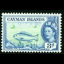 CAYMAN IS 1953-62 3d Parrot Fish. SG 154. Lightly Hinged Mint. (AF314)