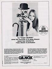 PUBLICITE ADVERTISING 094 1967 GILNOX adoucisseurs d'eau