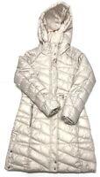 MARC NEW YORK Parka Puffer Jacket Coat Womens Size M Medium Ivory Hooded Zip