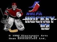 Nhlpa Hockey '93 - Sega Genesis Game