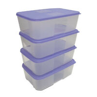 Tupperware Freezer Mate Food Containers Medium II Set Violet - Free Shipping