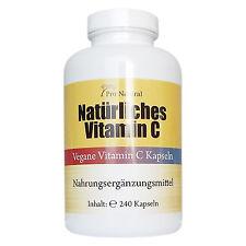 Natürliches Vitamin C - 240 Kapseln aus Acerola u Hagebutte Vegan Premium