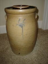 VINTAGE Red Wing 4 Gallon Bee Sting Salt Glaze Stoneware Butter Churn With Lid