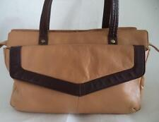 BROWN MIA SOFT LEATHER SHOULDER BAG HANDBAG ORGANISER