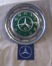 Mercedes Benz (W123) Hubcap Clock With Advertising Flag (Green)