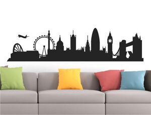 London skyline wall sticker | London city wall decal | London silhouette sticker