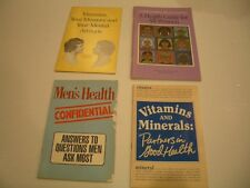 VITAMINS AND MINERALS: Partners in Good Health + 3 more healthy lives booklets