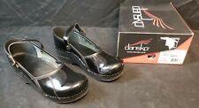 Dansko Comfort Clogs Size 38 Medical/Nursing Black Patent Leather Mary Jane