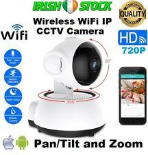 IP Camera Wireless WiFi HD 720P Pan/Tilt Zoom CCTV IR Night Vision