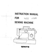Sewing machine white manual.