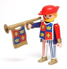 Playmobil Figure Castle King's Court Trumpeter w/ Draped Horn Hat 3659
