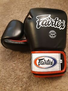 Fairtex Muay Thai Pro Training Glove 12 oz. Black *NEW*