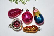 Vintage antique glass figural christmas ornaments, USSR ornaments
