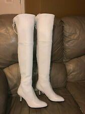 Stuart Weitzman Women's TIEMODEL Over The Knee Boot SIZE 5 WHITE NWOB MSRP $1077
