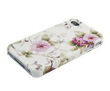 Schutzhülle f iPhone 4 4S 4G Hard i Case Tasche Cover Blumen Backcover rosa