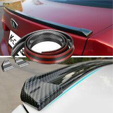 Universal 49ft Carbon Fiber Pu Car Rear Roof Trunk Spoiler Wing Lip Sticker Kit Fits Saturn Aura