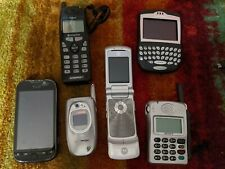 Lot of 6 Cell Phones CDM 9000  Blackberry 7260 KRAZR KM1 Sony ZM-C200 SCH-a600